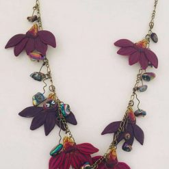 Cone Flower and Hematite Necklace