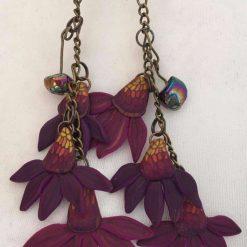 Cone Flower Dangle Earrings