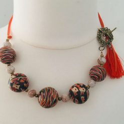 Choker - Ethnic beads with tassel