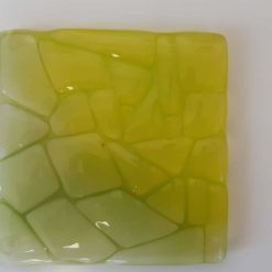 Fused glass coaster - Forest 3