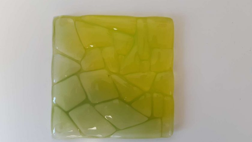Fused glass coaster - Forest 2