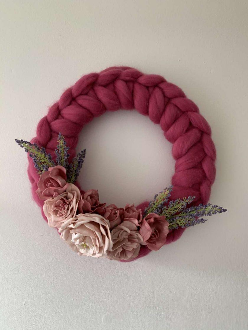 Merino handmade wreath 1