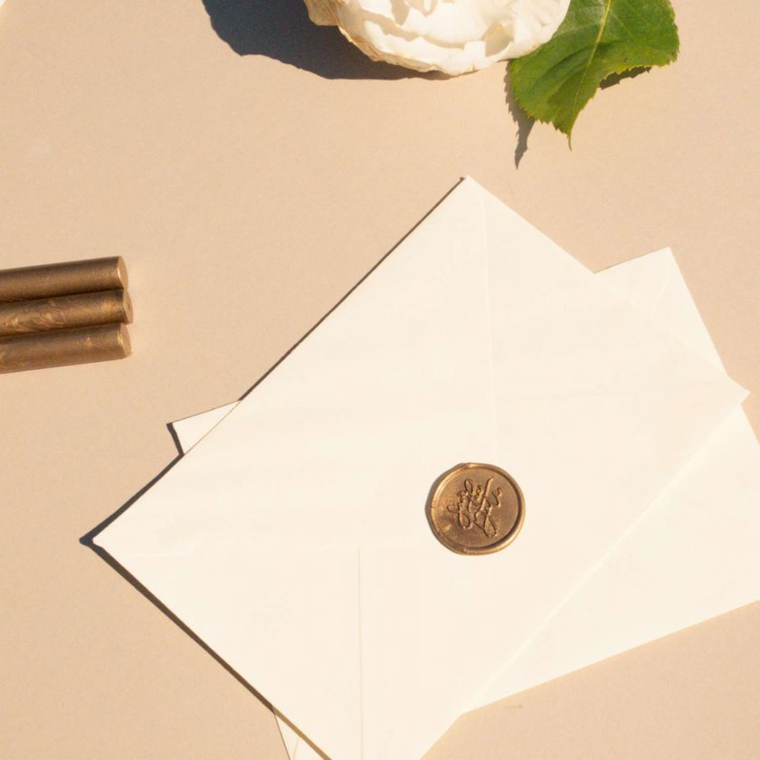 'Save the Date' Self-Adhesive Wax Seals 1