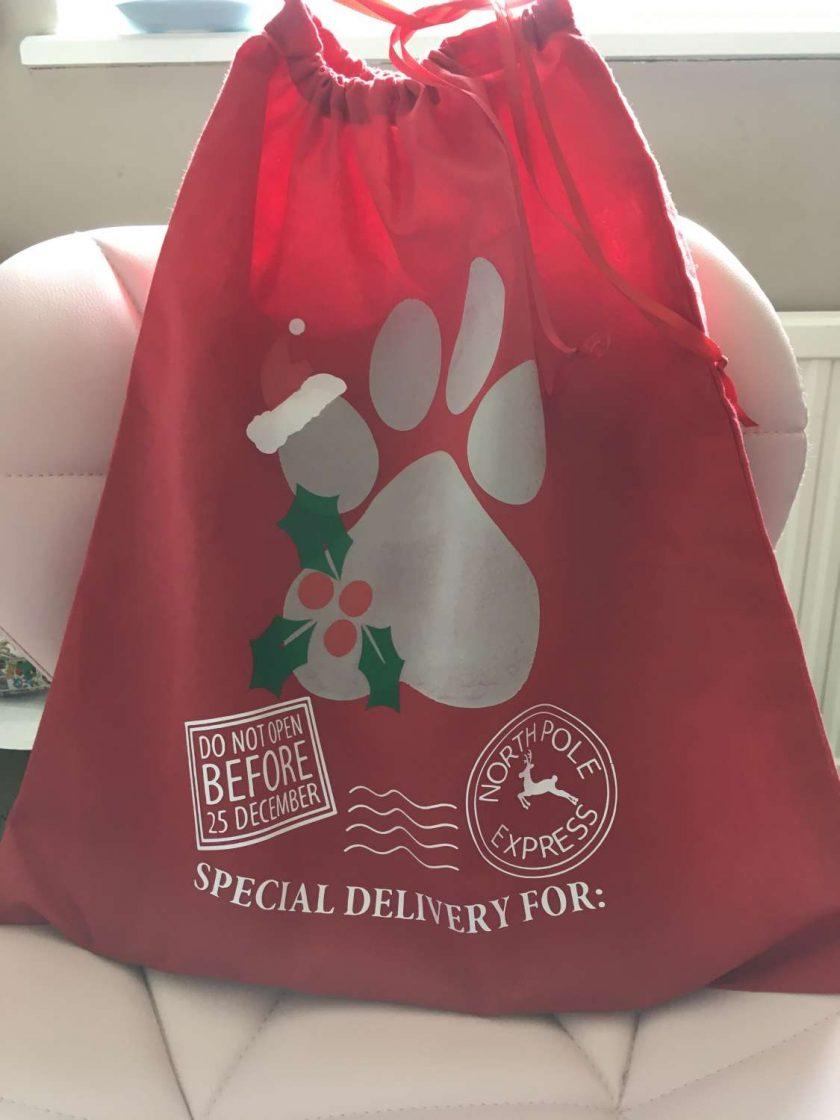 Santa Paws Christmas Gift Sack 2