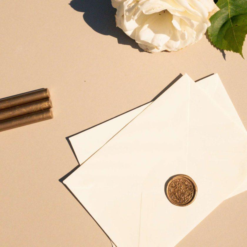 Leaf Filigree Self-Adhesive Wax Seal 1