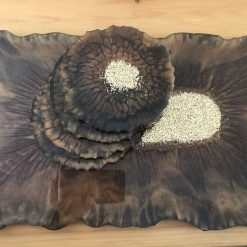 Resin tray and coasters set 8