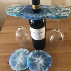 Resin wine butler/caddy and coasters 8