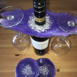 Resin wine butler/caddy and coasters 9