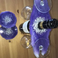 Resin wine butler/caddy and coasters 10