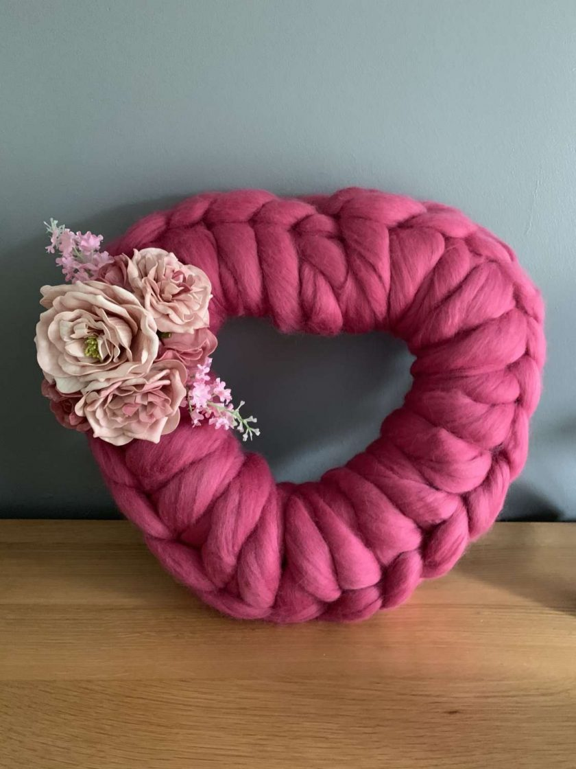 Bespoke merino wool wreath 1