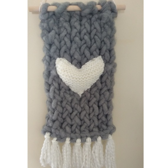 Knitted wall hanging 1