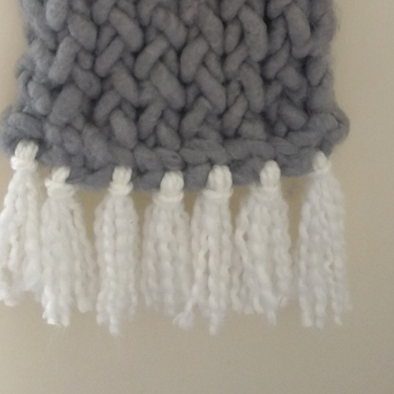 Knitted wall hanging 3