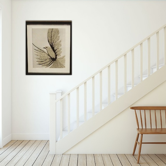 bird threadpainting. Artwork. Home decore. 2