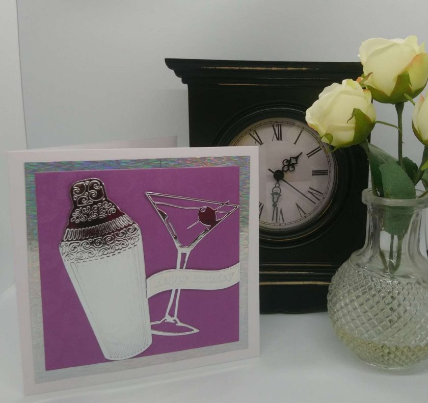 Cocktail Birthday Card 1