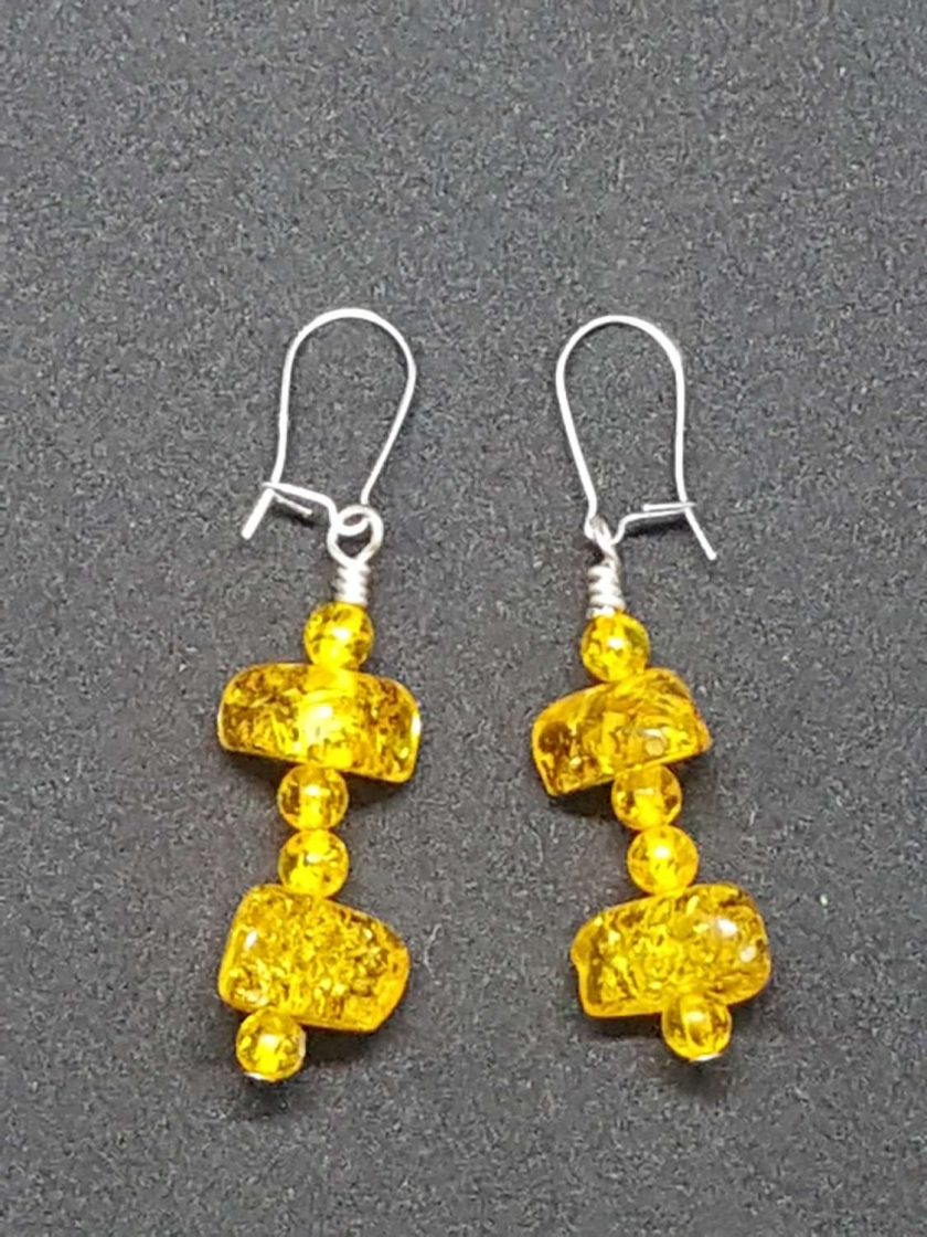 Amber Earrings 1