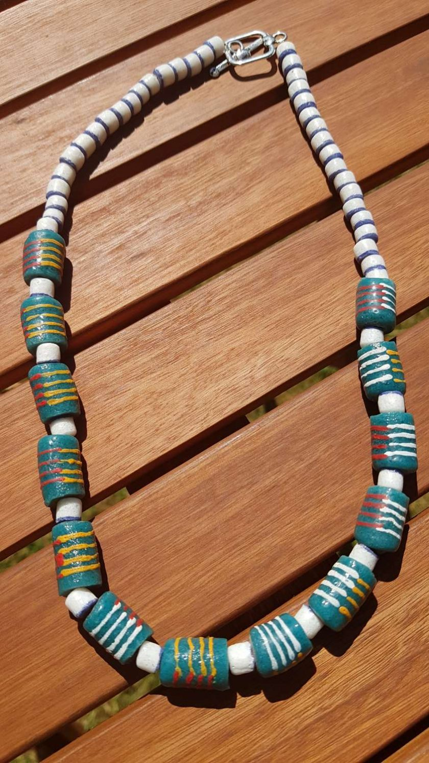 Ghanian Recycled Glass Necklace 1
