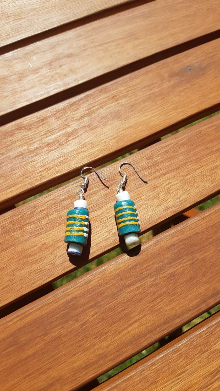 Ghanian Recycled Glass Earrings 1