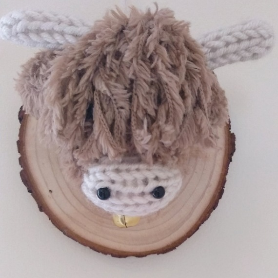 Highland cow head wall hanging 1