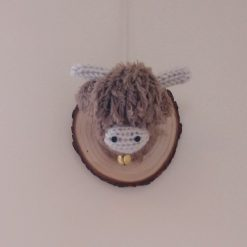 Highland cow head wall hanging 5