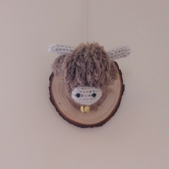 Highland cow head wall hanging 2
