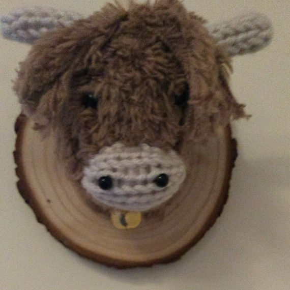 Highland cow head wall hanging 4