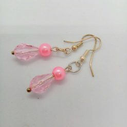 Pink Crystal and Pink and Cream Pearl 3 Piece Jewellery Set, Gift for Her 8
