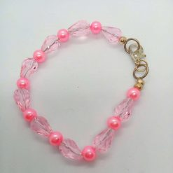 Pink Crystal and Pink and Cream Pearl 3 Piece Jewellery Set, Gift for Her 9