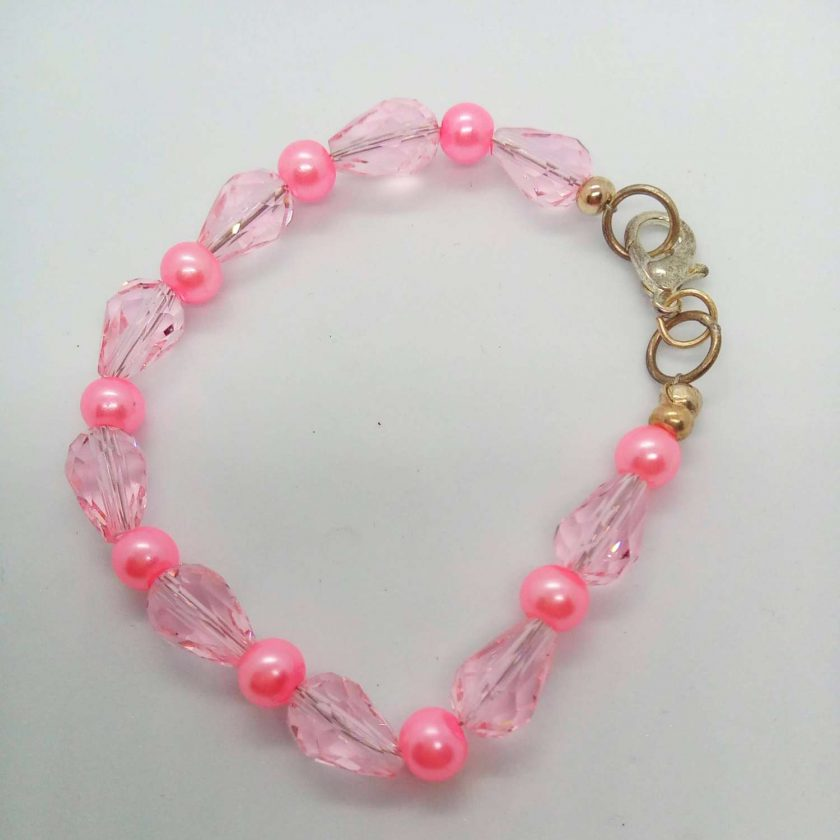 Pink Crystal and Pink and Cream Pearl 3 Piece Jewellery Set, Gift for Her 4