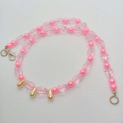 Pink Crystal and Pink and Cream Pearl 3 Piece Jewellery Set, Gift for Her 10