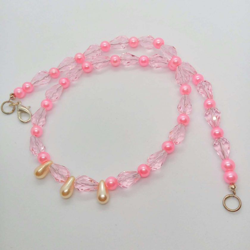 Pink Crystal and Pink and Cream Pearl 3 Piece Jewellery Set, Gift for Her 5