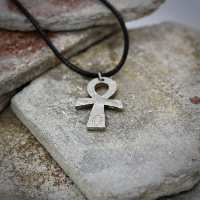 Ankh pendant, vintage coin mystic necklace. 6