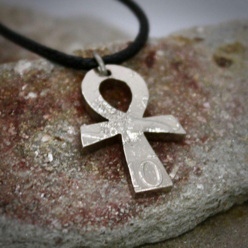 Ankh pendant, vintage coin mystic necklace. 1