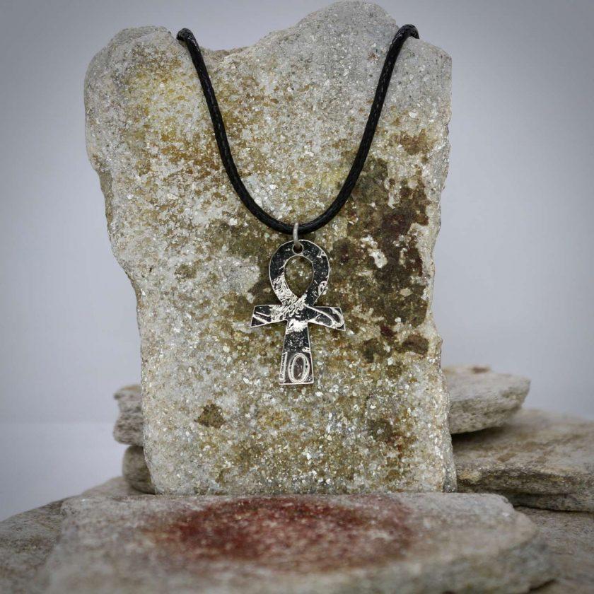 Ankh pendant, vintage coin mystic necklace. 3