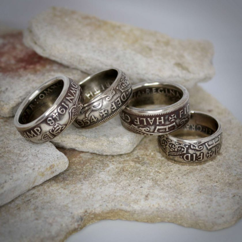 British Half Crown Coin Rings 2