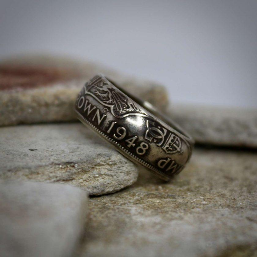 British Half Crown Coin Rings 3