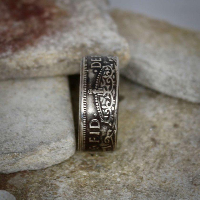 British Half Crown Coin Rings 4
