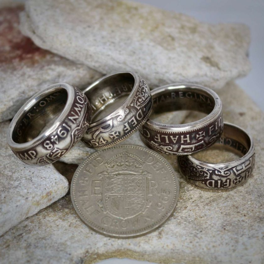British Half Crown Coin Rings 1