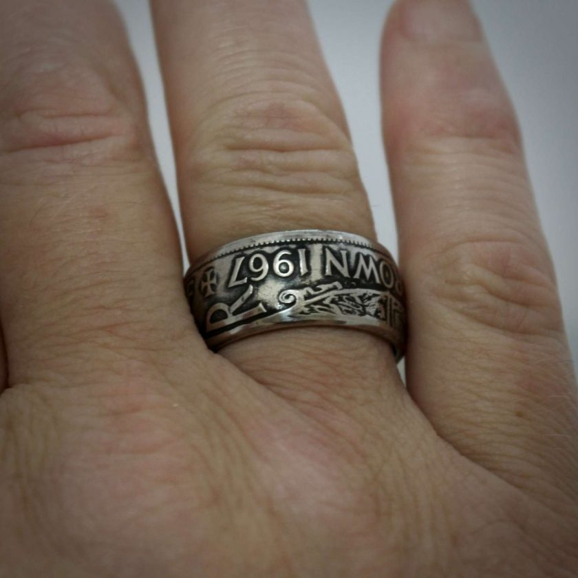 British Half Crown Coin Rings 7