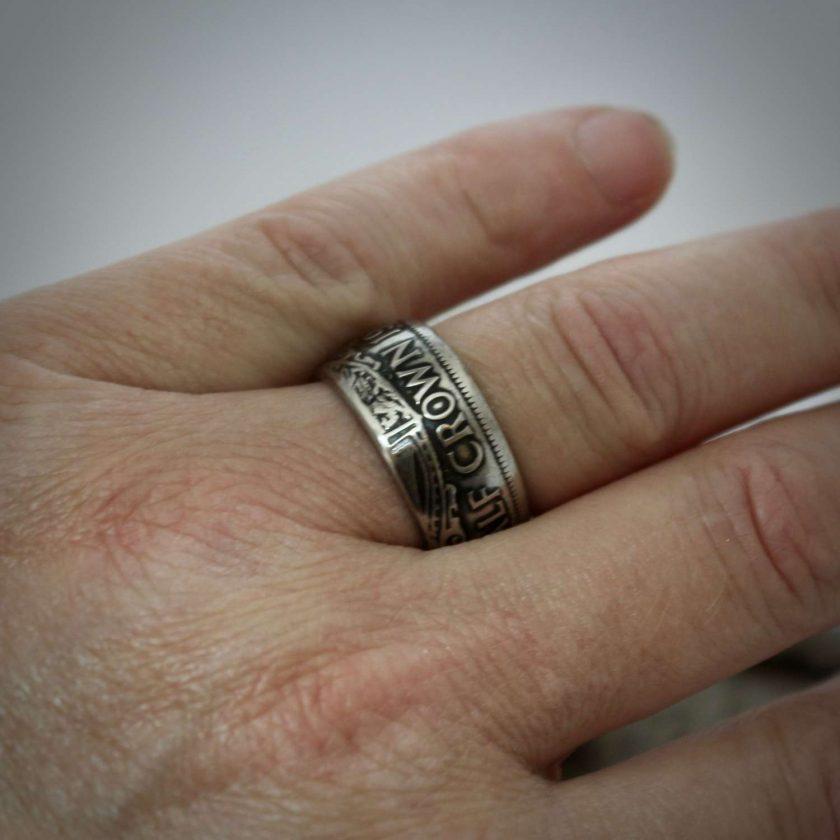 British Half Crown Coin Rings 5