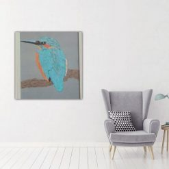 kingfisher thread painting. Artwork.  Home decore. 5