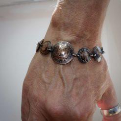 Boho, Hippy Bracelet Made From British Half Pennies. 13