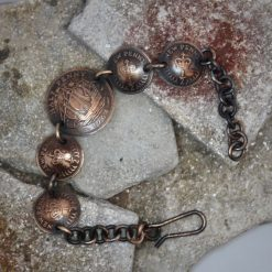 Boho, Hippy Bracelet Made From British Half Pennies. 11