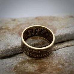 Sobriety Chip Coin Ring, alcoholic addiction recovery, AA anniversary gifts for men and women. 13