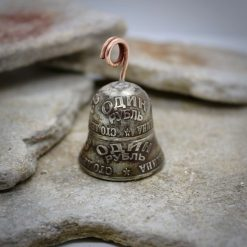 Coin Jewellery, Vintage British Penny Bell. Gremlin, Guardian Bell 11