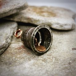 Coin Jewellery, Vintage British Penny Bell. Gremlin, Guardian Bell 17