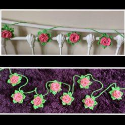 Crochet Rose Garland 3