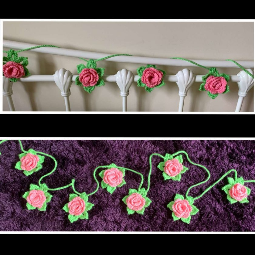 Crochet Rose Garland 2