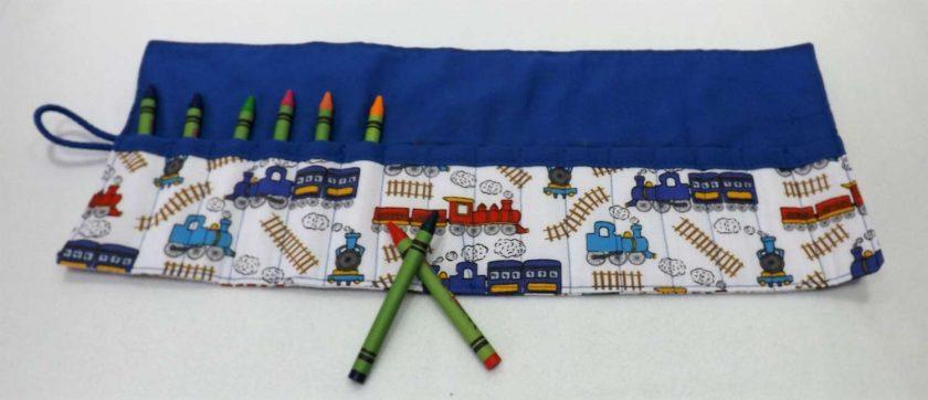 Train Crayon Roll 1