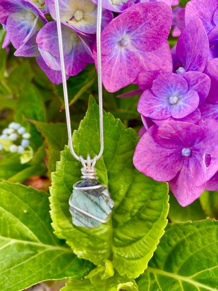 Raw Emerald Necklace 2