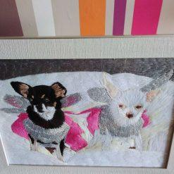 pet portrait thread painting. Commisions artist. 9